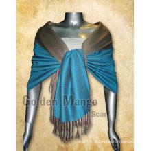 Пасхальный платок с одноцветным вискозным двойным лицом