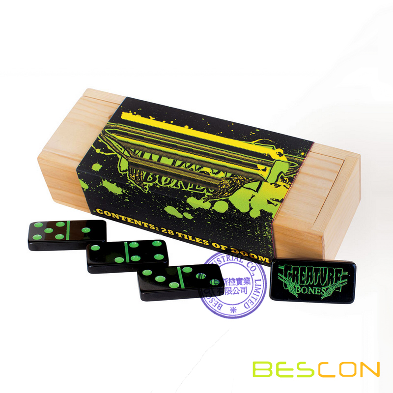 Custom Signature Engraved Dominoes Game Set