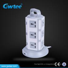 2016 новейший сетевой фильтр 12-way tower универсальные розетки с USB-интерфейсом