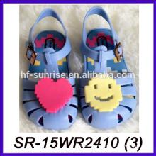 Blaues Lächeln Gesicht Großhandel Gelee Sandalen transparente Sandalen Kunststoff Sandalen
