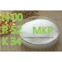 Fertilizante de Fosfato de Mono-Potasio, Fertilizante de Fosfato Compuesto de Cristal MKP, MKP 0-52-34