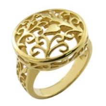 Позолоченное кольцо из золота 18 карат