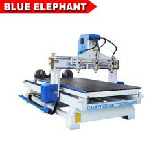 Jinan bleu éléphant rotogravure cylindre 4d bois art travail cnc machine de gravure avec coût économique
