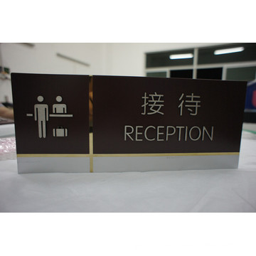 Indoor Stainless Steel Panel Etched Reception Sign with Paint