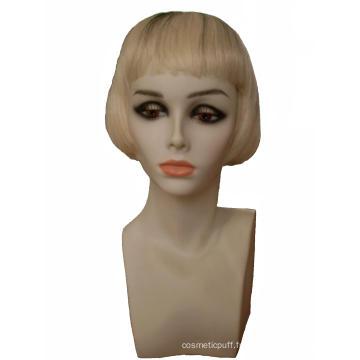 Nouveau PVC porte-perruque perruque Mannequin tête affichage tête de Mannequin