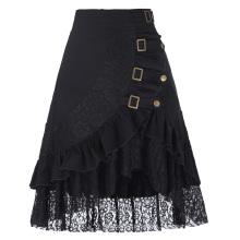 Belle Poque Mujer Vintage Steampunk Gótico Ropa Gypsy Hippie Alto Estiramiento Nylon-Algodón y faldas de encaje BP000205-1