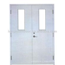 Porte de panneau en acier ignifuge pour portes d'entrée