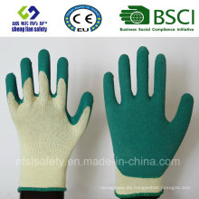Guantes de goma de látex, guantes de trabajo de seguridad de acabado de arena (SL-R503)