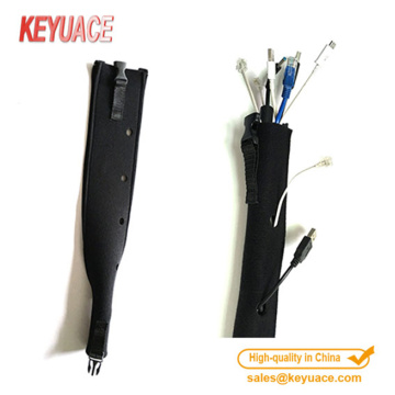 Kualitas Ukuran Custom Neoprene Zipper Cable Sleeve