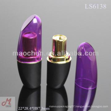 LS6138 Unique purple lipstick tube/container/case