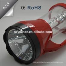 Lanterna recarregável led de plástico