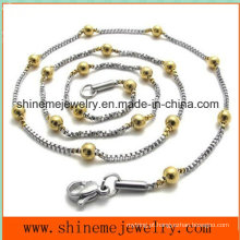 Hot-Selling Stainless Steel Bead Chain Necklace Jewelry Jewelry (SSNL2631)