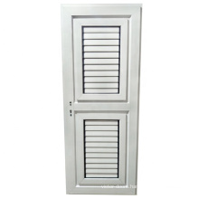 Cheapest bathroom casement door with ventilation aluminum louvers
