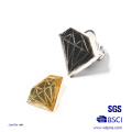Metal Diamond Design Soft Enamel Resin Solapel Pin