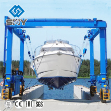 500 ton mobile Boat lifting gantry crane for boat handling and transportation
