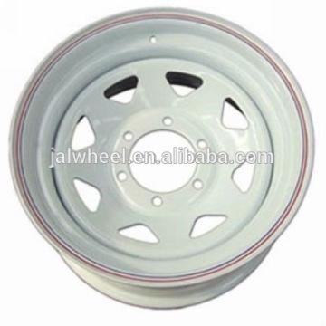 2016 hot sale white trailer wheel steel wheel
