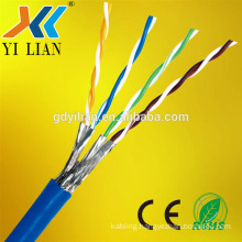 top quality pure copper double shielded cat7 network cable for computer