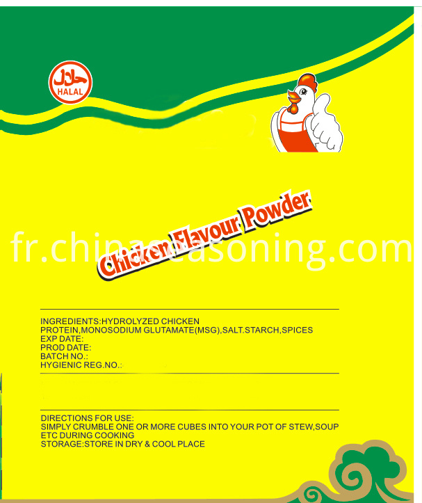 Chicken Seasoning label