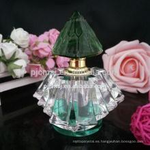 Buena calidad vender bien diseñar su propia botella de perfume de cristal con tapa de botella de perfume