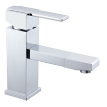 Fashion And Square Single Lever Faucet With Good Chrome  Plate