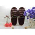 cheap soft personalized open toe chinese embroidered hotel slipper