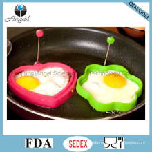 Hot Sale Heart Shape Silicone Egg Mold Silicone Egg Tool Se11
