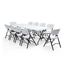 HDPE пластиковые 183см складной садовый столик для пикников на открытом воздухе и кемпинг столы
