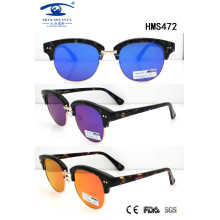 Shiny Fashion New Hot Sale Acetate Sunglasses for Wholesale (HMS472)