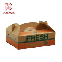 Caja de papel de empaquetado del regalo de la fruta del tamaño personalizado OEM de la fábrica con la manija