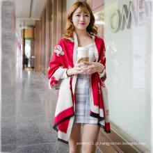 A venda quente 2015 carrega o lenço elegante da senhora do teste padrão