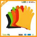 FDA estándar resistente al calor guantes de barbacoa de grado alimentario de silicona