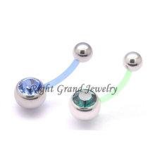 Flexible Bio Flex Schwangerschaft Bauch Ring Bauchnabel-Piercing