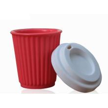 Fashion Silicone Coffee Mug Non-Slip Coffee Cup with Lid