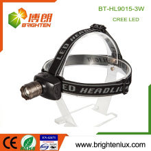 Factory Supply 3*aaa dry battery Powered 3 mode light Aluminum Cree XPE led 3W High Power Zoom Headlamp for Hunting Climbing