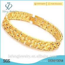 Nuevos productos de diseño de oro de moda pulsera chapada en oro para los hombres