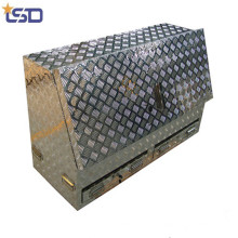 Caja de herramientas de aluminio impermeable de la barra de tracción del remolque Caja de herramientas de aluminio impermeable de la barra de drenaje del remolque