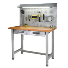 Tools Wall Peg Broad Two Steel Drawers Beech Table Workbench
