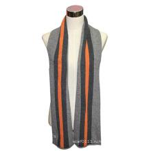 Мода мужчины шерсть хлопок вязаный полосатый шарф зимы (YKY4328)