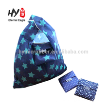 Portable foldable polyeater shopping bag waterproof