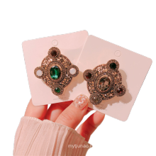 Square Rhinestone Brooch for Women Girl Coat Sweater Accessories Badge Fashion Jewelry Handmade Wholesale Euro American Vintage
