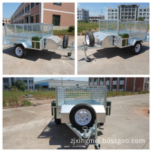 Heavy Duty 7*5 Ft Single Axle Gtm 750kgs Full Hot DIP Galvanized Checker Plate Steel Trailer and 20L Jerry Can Holder.