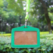Handmade leather id card holder, entrance card holder