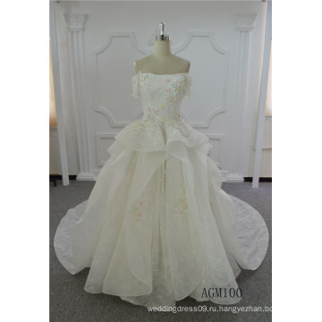 последний слоновой кости свадебное платье свадебное платье 2017 Пром бальное платье Свадебные свадебное платье