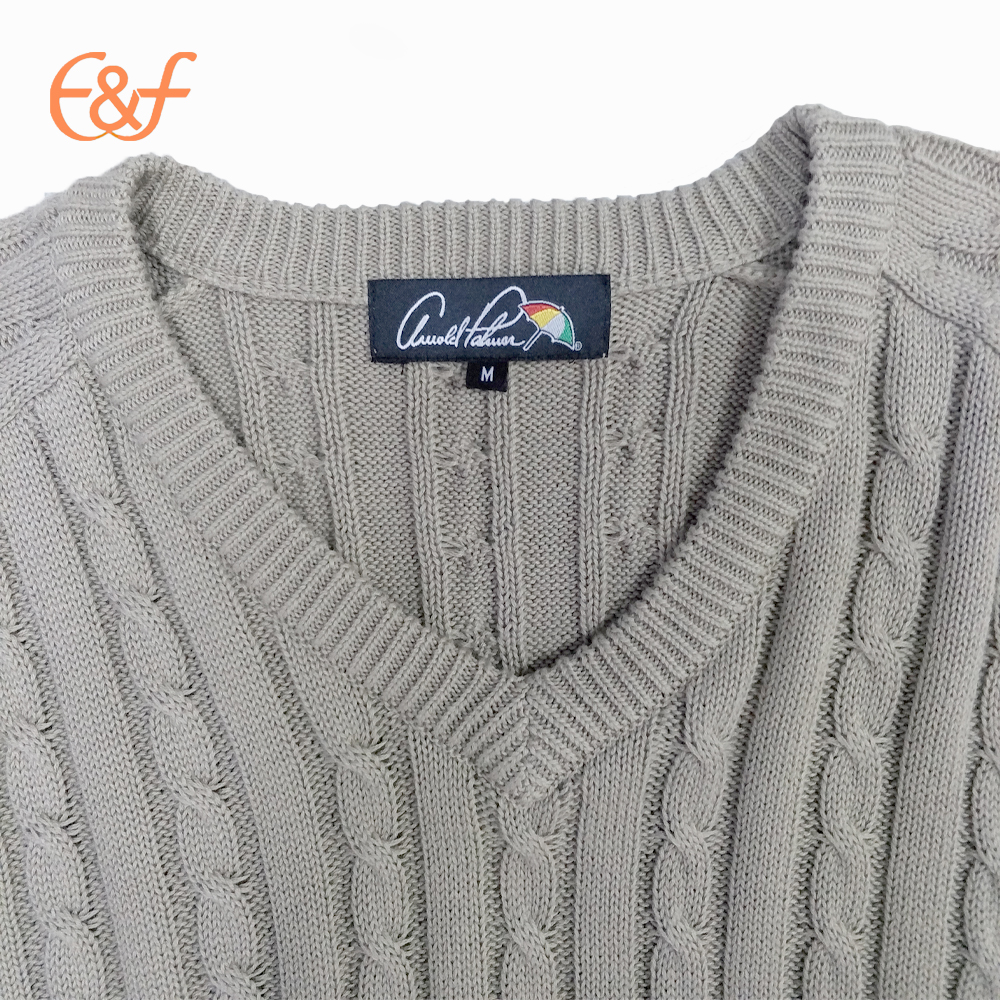 Vest cable knitted sweater