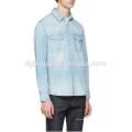 Blue Denim Social denim tee shirts camisas de manga larga de hombres azules