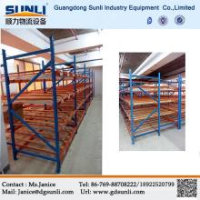 Estantería de flujo almacenamiento Metal China caliente venta almacén bandejas cartón gravedad