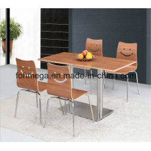 Economical Fast Food Restaurant Tables and Chairs (FOH-BC01)