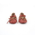 Speciale rode strik Christmas Baby sandalen