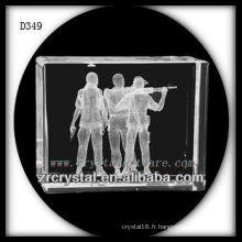 K9 3D Subsurface Prise de vue à l'intérieur du rectangle de cristal