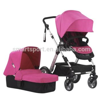 Carrinho de bebê de design de moda com rodas grandes